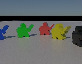 Meeple Knights 3D print model