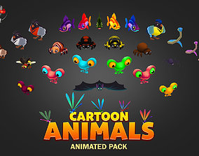 3D model Cartoon animals pack