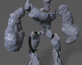 Stone golem 3D asset