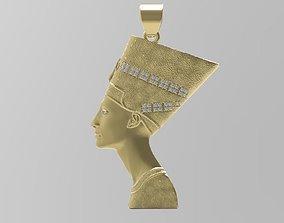 Nefertiti Pendant - Egypt - Jewelry - 3D printable model 1