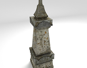 Grave 3D asset low-poly