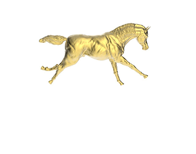 3D printable model Arabic Horse in galloping 1