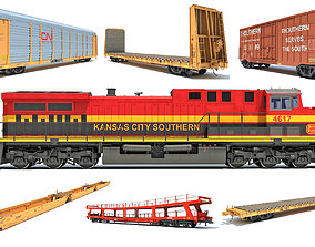 Kansas City Southern Freight Train 3D