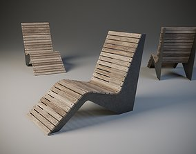 3D model urban exterior chair
