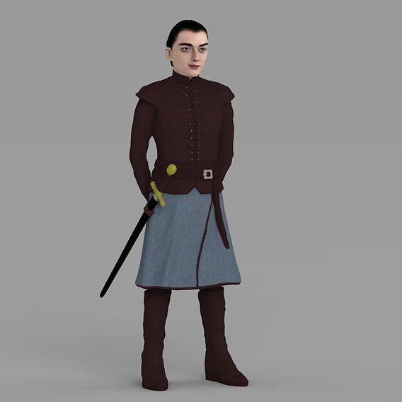 Arya Stark for full color 3D printing