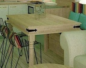 3D model KITCHEN TRADITIONAL TABLE