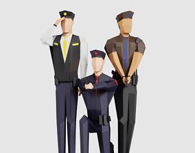 3D asset Police Men
