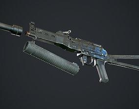 Bizon PP19 gameready rigged 3D asset