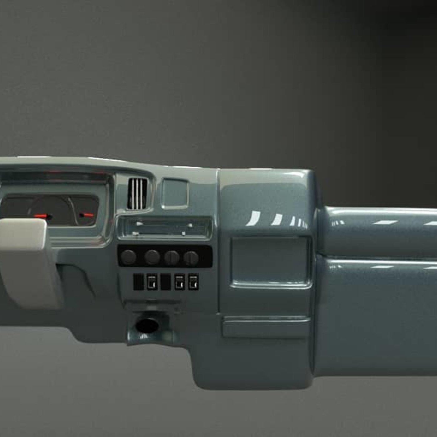 INTERIOR NISSAN CIVILIAN 3D MODEL