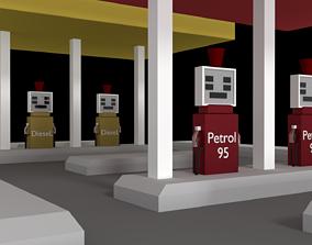 gas station 3D model game