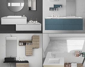 Bathroom furniture collection 5 3D model
