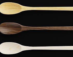 3D asset Wooden spoons