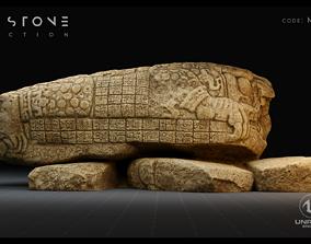 Mayan Stone 02 PBR 4K 3D model