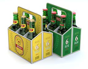 3D model Beer Cardboard Pack