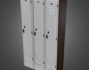 School Gym Lockers - HSG - PBR Game Ready 3D asset