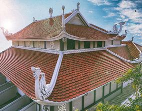 3D model asia pagoda scence