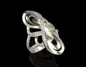 Diamond ring design 3D printable model brilliant