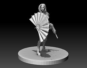 3D print model SciFi Cyberpunk Female ninja soldier