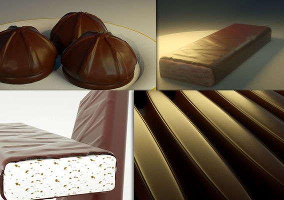 Chocolate 3D designs