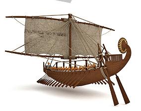 ancient Egyptian ship 3D model