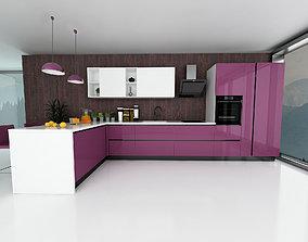 Modern kitchen interior 3D