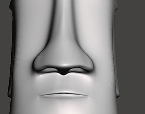 Easter Island head - 3d model for CNC impresion-3d