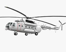 3D asset Mi-8MTV United Nations