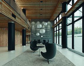 3D model Lobby Hall Lounge Foyer Hallway Scandinavian 1