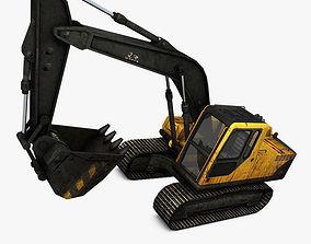 3D asset VR / AR ready Excavator