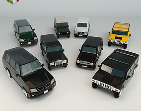 Low Poly SUV Pack 01 3D model