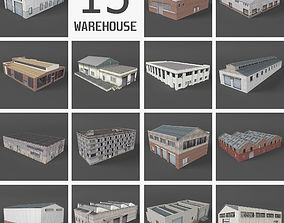 3D model 15 Industrial Buildings Collection I