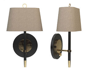 3D Jonathan Adler Ventana Brass Plug-In Wall Lamp