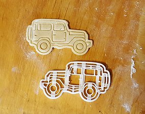 Off-road car cookie cutter 3D printable model