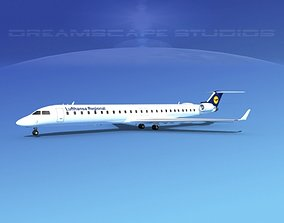 3D Bombardier CRJ1000 Lufthansa Regional