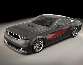 Generic sports car 03 3D