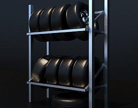 Rack for tires 3D