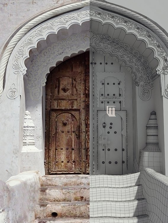 Yemeni traditional Door - Zabid - Yemen