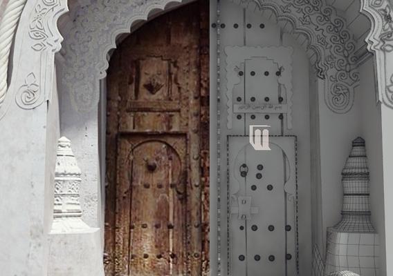 Yemeni traditional Door - Zabid - Yemen