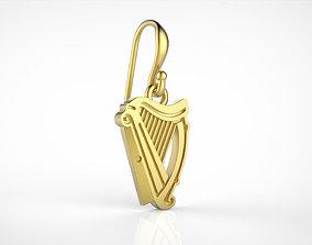 3D print model Guinness logo earring