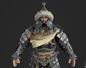 3D asset Ancient Mongolian generals Nomadic armor 1