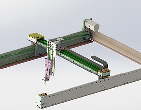 3D model Gantry manipulator