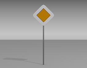 3D model Priority sign