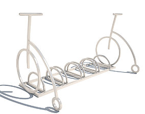 Bicycle parking metall 3D model