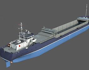 3D General Cargo Ship DAMEN COMBI COASTER open bay