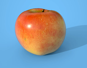 3D model low-poly Apple