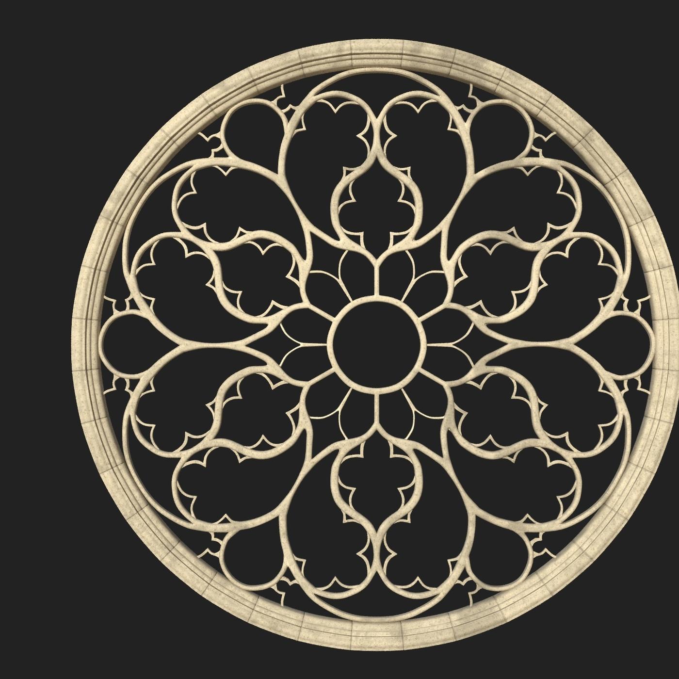 Gothic Rose Window 3D model