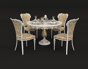 European Style Dinning Table 2 3D model