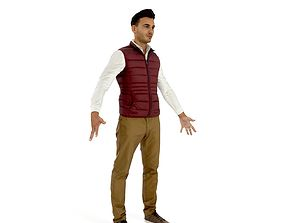 Business man in a dark vest 3D asset