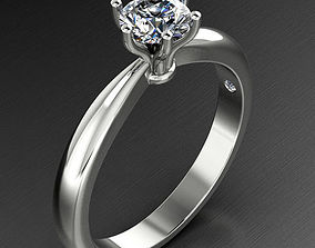 3D printable model Solitaire Engagement Diamond Ring 2