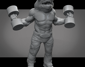 Crossfit Hammerhead Shark Man 3D print model
